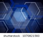 abstract blue background... | Shutterstock . vector #1070821583