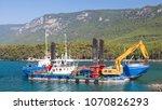 turkey   august 16  2017  ships ... | Shutterstock . vector #1070826293