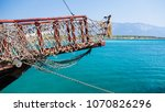 the bow of the ship with a... | Shutterstock . vector #1070826296