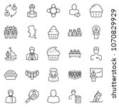 thin line icon set  ... | Shutterstock .eps vector #1070829929