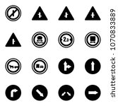 solid vector icon set   no... | Shutterstock .eps vector #1070833889