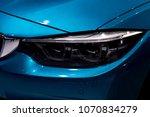 close up shot of headlight in... | Shutterstock . vector #1070834279
