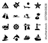 solid vector icon set  ... | Shutterstock .eps vector #1070843828