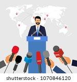 live report concept. press... | Shutterstock . vector #1070846120