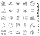 thin line icon set   tea cup... | Shutterstock .eps vector #1070846768