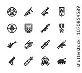 icons weapons with safe  honor  ... | Shutterstock .eps vector #1070854589