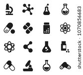 flat vector icon set   atom... | Shutterstock .eps vector #1070856683