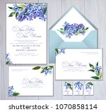 set of templates for greetings  ...   Shutterstock . vector #1070858114