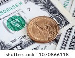 close up of us dollar bills and ... | Shutterstock . vector #1070866118