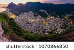 panoramic view of rocinha  the... | Shutterstock . vector #1070866850