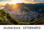 panoramic view of rocinha  the...   Shutterstock . vector #1070866853
