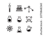 icon set of chemicals and... | Shutterstock .eps vector #1070868260