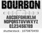 vintage font handcrafted vector ...   Shutterstock .eps vector #1070870450
