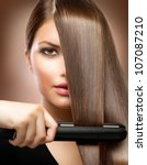 Healthy Hair. Hairstyling....