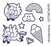 Icons Elements Set In Sticker...