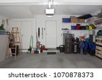 clean two car garage in a... | Shutterstock . vector #1070878373
