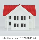 house modern contemporary style ... | Shutterstock . vector #1070881124