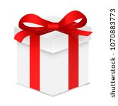 gift box with red color bow... | Shutterstock .eps vector #1070883773