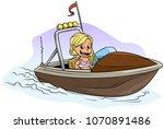 cartoon white cute flat blonde... | Shutterstock .eps vector #1070891486