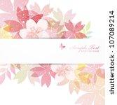 cherry blossom flowers... | Shutterstock .eps vector #107089214