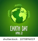 earth day poster. earth on... | Shutterstock .eps vector #1070896019