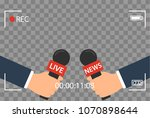 background with camera frame... | Shutterstock .eps vector #1070898644