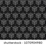 vector seamless geometric... | Shutterstock .eps vector #1070904980