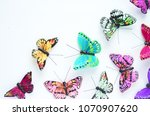 arts and crafts painted... | Shutterstock . vector #1070907620