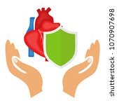 the heart is protected  the... | Shutterstock .eps vector #1070907698