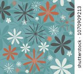 abstract seamless floral... | Shutterstock .eps vector #1070909213