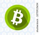 bitcoin round icon on light... | Shutterstock .eps vector #1070915654