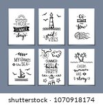 set of 6 pre made sea   ocean...   Shutterstock .eps vector #1070918174
