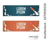 rocket lunch concept banner... | Shutterstock .eps vector #1070920220