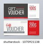 gift voucher template design... | Shutterstock .eps vector #1070921138