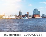 elbe river and waterfront... | Shutterstock . vector #1070927384