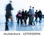 blurred crowd of people | Shutterstock . vector #1070930096