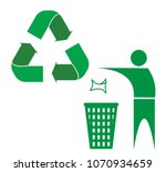 symbols recycle keep city clean | Shutterstock .eps vector #1070934659