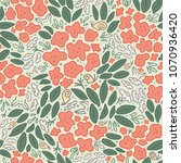 seamless vector pattern with... | Shutterstock .eps vector #1070936420