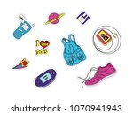 set of patches with fashion... | Shutterstock .eps vector #1070941943