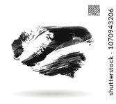 grey  brush stroke and texture. ...   Shutterstock .eps vector #1070943206