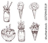 ice cream illustrations of... | Shutterstock .eps vector #1070945519