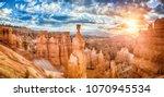 panoramic view of amazing... | Shutterstock . vector #1070945534