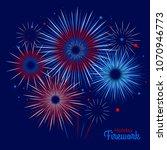 vector holiday firework.... | Shutterstock .eps vector #1070946773