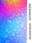 light blue  red vertical cover... | Shutterstock . vector #1070949209