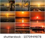 sunset in the danube delta... | Shutterstock . vector #1070949878