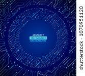 high tech technology background ... | Shutterstock .eps vector #1070951120
