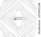 high tech square technology... | Shutterstock .eps vector #1070951138