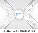 high tech technology background ... | Shutterstock .eps vector #1070951144