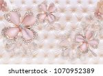3d jewellery background... | Shutterstock . vector #1070952389