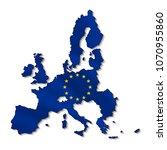 map of european union in 3d.   Shutterstock .eps vector #1070955860